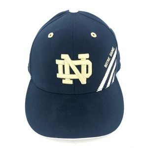 Notre Dame Adidas Fitted Hat Cap Official Licensed University Navy Blue Flexfit
